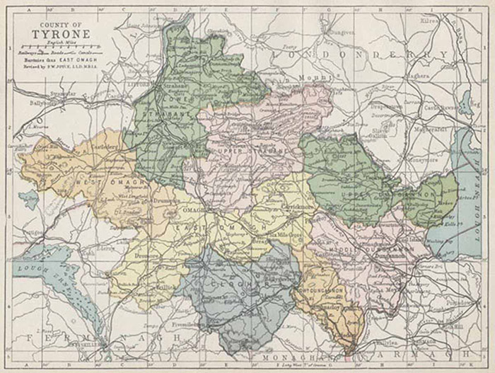 Old Map of County Tyrone
