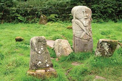 Stone figures on Boa Island